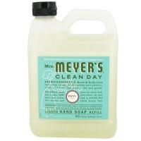 Mrs. Meyers clean day liquid hand soap refill, basil  -  33 Oz