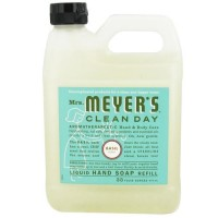Mrs. Meyers clean day liquid hand soap refill, basil  -  33 Oz, 6pack