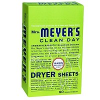 Mrs. Meyers clean day dryer sheets, lemon verbena  -  80 Sheet