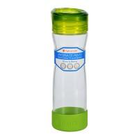 Full circle home water bottle travel glass hydrate mate green slate - 16 oz