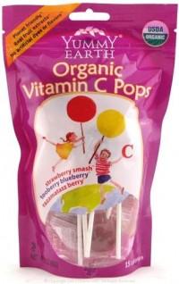 Yummy earth organic vitamin c pops, planet friendly lollipops - 3 oz, 6pack