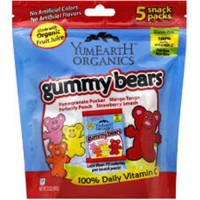 Yummyearth gummy bears 12 pack  -  5 ea, 0.7 oz, 12 pack