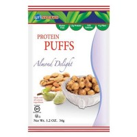Kays naturals protein puffs, almond delight delicious snack- 1.2 oz, 6 pack