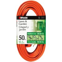 Coleman Woods Wire P heavy duty home improvement extension cord - 50 foot, 6 ea