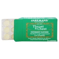 Jakemans throat and chest peppermint flavored lozenges - 24 ea ,24 pack