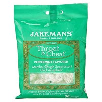 Jakemans lozenge throat and chest peppermint - 24 ea