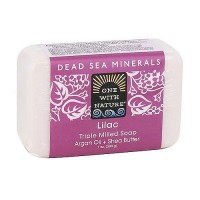 One With Nature Dead Sea Minerals Triple Milled Bar Soap, Lilac - 7 oz