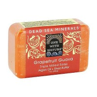One With Nature Dead Sea Minerals Triple Milled Bar Soap, Grapefruit Guava - 7 oz