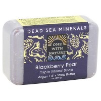 One With Nature Blackberry Pear Dead Sea Mineral Soap Bar - 7 oz