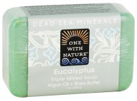 One With Nature Dead Sea Minerals Triple Milled Bar Soap, Eucalyptus - 7 oz