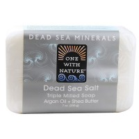 One With Nature soap bar dead sea mineral - 4 oz, 6 pack