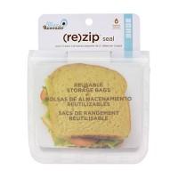 Blue avocado re-zip seal lunch bag, translucent - 150 ea