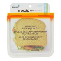 Blue avocado re zip seal snack orange bag - 2 ea