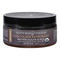 Soothing touch scrub organic sugar chocolate peppermint brown sugar - 8 oz