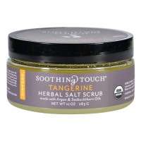 Soothing touch scrub organic salt herbal tangerine - 10 oz