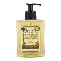 A La Maison de provence liquid soap for hand and body sweet almond - 10 oz
