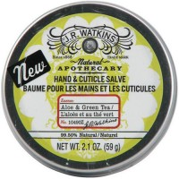 J R watkins natural apothecary hand and cuticle salve, aloe and green tea - 2.1 oz