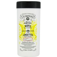 Jr watkins natural home care all purpose wipes lemon - 35 ea