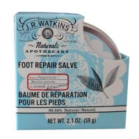 J R watkins natural apothecary foot repair salve, peppermint - 2.1 oz