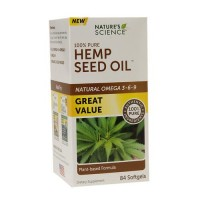Nature's Science Hemp Seed Oil softgels - 84 ea