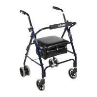 Drive Medical Mimi Lite Push Brake Rollator Rolling Walker