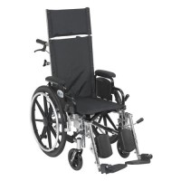 Drive Medical Viper Plus Light Weight Reclining Wheelchair with Elevating Leg Rests and Flip Back Detachable Arms, 14 inches Seat - 1 ea