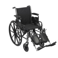 Drive Medical Cruiser III Light Weight Wheelchair with Flip Back Removable Arms, Desk Arms, Elevating Leg Rests, 18 inches Seat - 1 ea