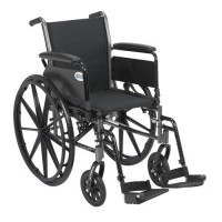 Drive Medical Cruiser III Light Weight Wheelchair with Flip Back Removable Arms, Full Arms, Swing away Footrests, 18 inches Seat - 1 ea