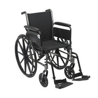 Drive Medical Cruiser III Light Weight Wheelchair with Flip Back Removable Arms, Full Arms, Swing away Footrests, 20 inches Seat - 1 ea