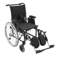 Drive Medical Cougar Ultra Lightweight Rehab Wheelchair, Elevating Leg Rests, 16 inches Seat - 1 ea