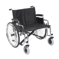 Drive Medical Sentra EC Heavy Duty Extra Wide Wheelchair, Detachable Desk Arms, 26 inches Seat - 1 ea