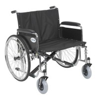 Drive Medical Sentra EC Heavy Duty Extra Wide Wheelchair, Detachable Full Arms, 26 inches Seat - 1 ea