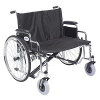 Drive Medical Sentra EC Heavy Duty Extra Wide Wheelchair, Detachable Desk Arms, 30 inches Seat - 1 ea