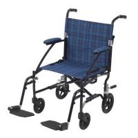 Drive Medical Fly Lite Ultra Lightweight Transport Wheelchair, Blue - 1 ea