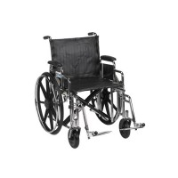 Drive Medical Sentra Extra Heavy Duty Wheelchair, Detachable Desk Arms, Swing away Footrests, 20 inches Seat - 1 ea