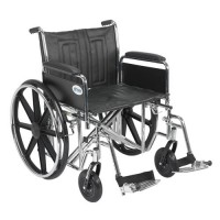Drive Medical Sentra EC Heavy Duty Wheelchair, Detachable Full Arms, Swing away Footrests, 22 inches Seat - 1 ea