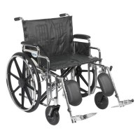 Drive Medical Sentra Extra Heavy Duty Wheelchair, Detachable Desk Arms, Elevating Leg Rests, 24 inchesSeat - 1 ea