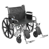 Drive Medical Sentra EC Heavy Duty Wheelchair, Detachable Desk Arms, Elevating Leg Rests, 24 inchesSeat - 1 ea