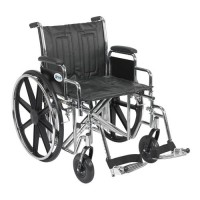 Drive Medical Sentra EC Heavy Duty Wheelchair, Detachable Desk Arms, Swing away Footrests, 20 inches Seat - 1 ea
