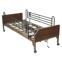 Drive Medical Delta Ultra Light Semi Electric Bed with Full Rails - 1 ea