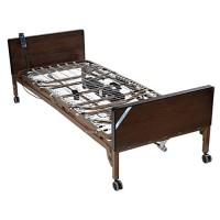 Drive Medical Delta Ultra Light Semi Electric Bed with Half Rails - 1 ea