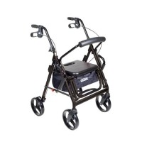 Drive Medical Duet Dual Function Transport Wheelchair Walker Rollator, Black - 1 ea