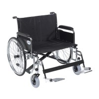 Drive Medical Sentra EC Heavy Duty Extra Wide Wheelchair, Detachable Full Arms, Swing away Footrests, 28 inches Seat - 1 ea