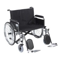 Drive Medical Sentra EC Heavy Duty Extra Wide Wheelchair, Detachable Full Arms, Elevating Leg Rests, 30 inches Seat - 1 ea