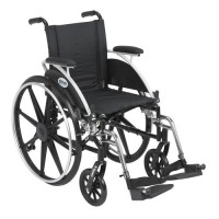 Drive Medical Viper Wheelchair with Flip Back Removable Arms, Desk Arms, Swing away Footrests, 14 inches Seat - 1 ea