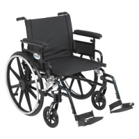 Drive Medical Viper Plus GT Wheelchair with Flip Back Removable Adjustable Full Arms, Swing away Footrests, 22 inches Seat - 1 ea