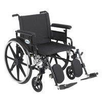 Drive Medical Viper Plus GT Wheelchair with Flip Back Removable Adjustable Full Arms, Elevating Leg Rests, 22 inches Seat - 1 ea