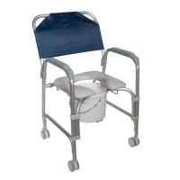 Drive Medical Lightweight Portable Shower Chair Commode with Casters - 1 ea