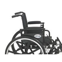 Drive Medical Viper Plus GT Wheelchair with Flip Back Removable Adjustable Full Arms, Swing away Footrests, 16 inches Seat - 1 ea
