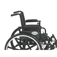 Drive Medical Viper Plus GT Wheelchair with Flip Back Removable Adjustable Desk Arms, Elevating Leg Rests, 20 inches Seat - 1 ea